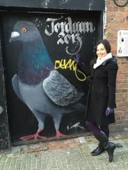 Pigeon graffiti, Amsterdam (?!)