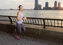 Running photoshoot at 14 weeks (photo by Daniel Paik)