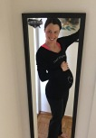 Pre-run selfie at 32 weeks
