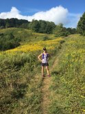 Trail running in Asheville at 14 weeks