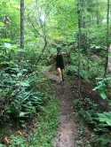 Trail running in Asheville at 15 weeks