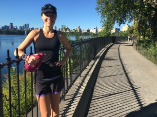 Long run in Central Park at 17 weeks