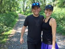 Trail running in PA at 13 weeks